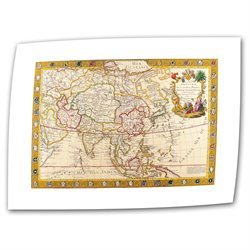 Guillaume Danet 'Map of Asia' Unwrapped Canvas