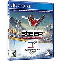P Steep trade  Winter Games Edition includes Steep trade , the massive open world of the Alps and Alaska, where you master the world's most epic mountains with a snowboard, wingsuit, paraglider, and skis, and now Steep trade  Road to the Olympics takes you on the journey to become an Olympic Winter Games champion