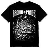 MENS SHOP PRIVATE LABEL Brown Pride Mens T-Shirt Chicano Art Azteca Tee Printed on Shaka Wear Tee (M)