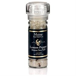 Lemon and Pepper Grinder from Maine Sea Salt - 3.6 Ounce