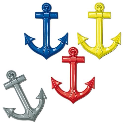 Beistle - 55501 - Plastic Ships Anchors4