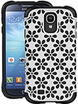 Ballistic Aspira Flower Case - White/black Galaxy S Iv Aspira Series F