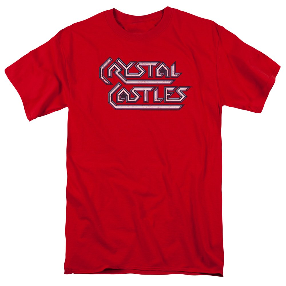 Trevco ATRI126-AT-6 Atari Crystal Castles Logo-S by S Adult Short Sleeve Shirt, Red - 3X