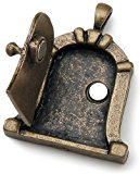 Fairy Door Metal Charm 1/Pkg-Antique Bronze Dome