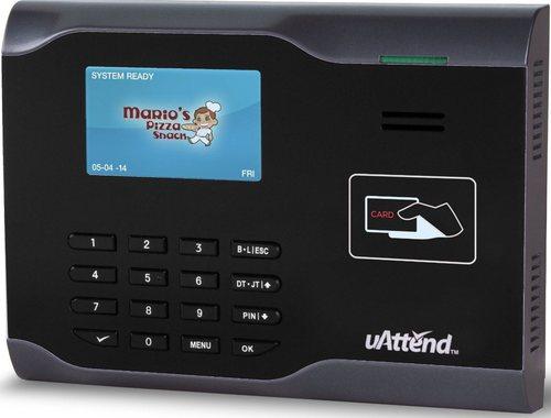 Uattend Cb6000 Rfid Internet Ready Time Clock - Black