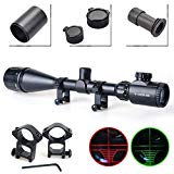 Twod Rifle Scope Tactical 6-24X50mm AOEG Optics Hunting Rifle Scope Red/Green Illuminated Crosshair Gun Scope   Scope Sunshade   Covers   Free Mounts