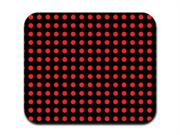 Red on Black Polka Dots Mousepad Mouse Pad
