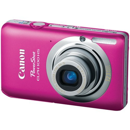 Canon PowerShot ELPH 100 HS 12.1 MP CMOS Digital Camera with 4X Optical Zoom (Pink)