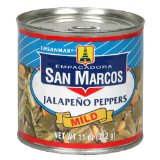 Empacadora San Marcos Whole Jalapeno Peppers, Mild, 11-Ounce Cans (Pack of 12)