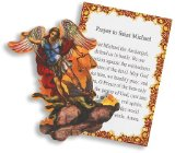St Michael the Archangel Defender of Catholic Church Pocket Prayer Card W Saints Picture