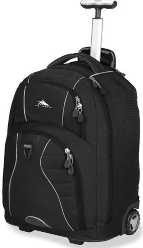 High Sierra 53991-1050 Freewheel Wheeled Rolling Backpack - 36.2 Liter - Black