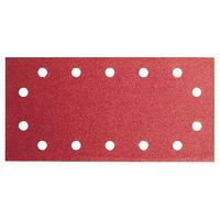 Bosch Sanding Sheets 115X230mm - 80 Grit - Red (Wood Top) Pack of 10