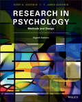 An approachable, coherent, and important text, Research in Psychology: Methods and Design, 8th Edition continues to provide its readers with a clear, concise look at psychological science, experimental methods, and correlational research in this newly updated version