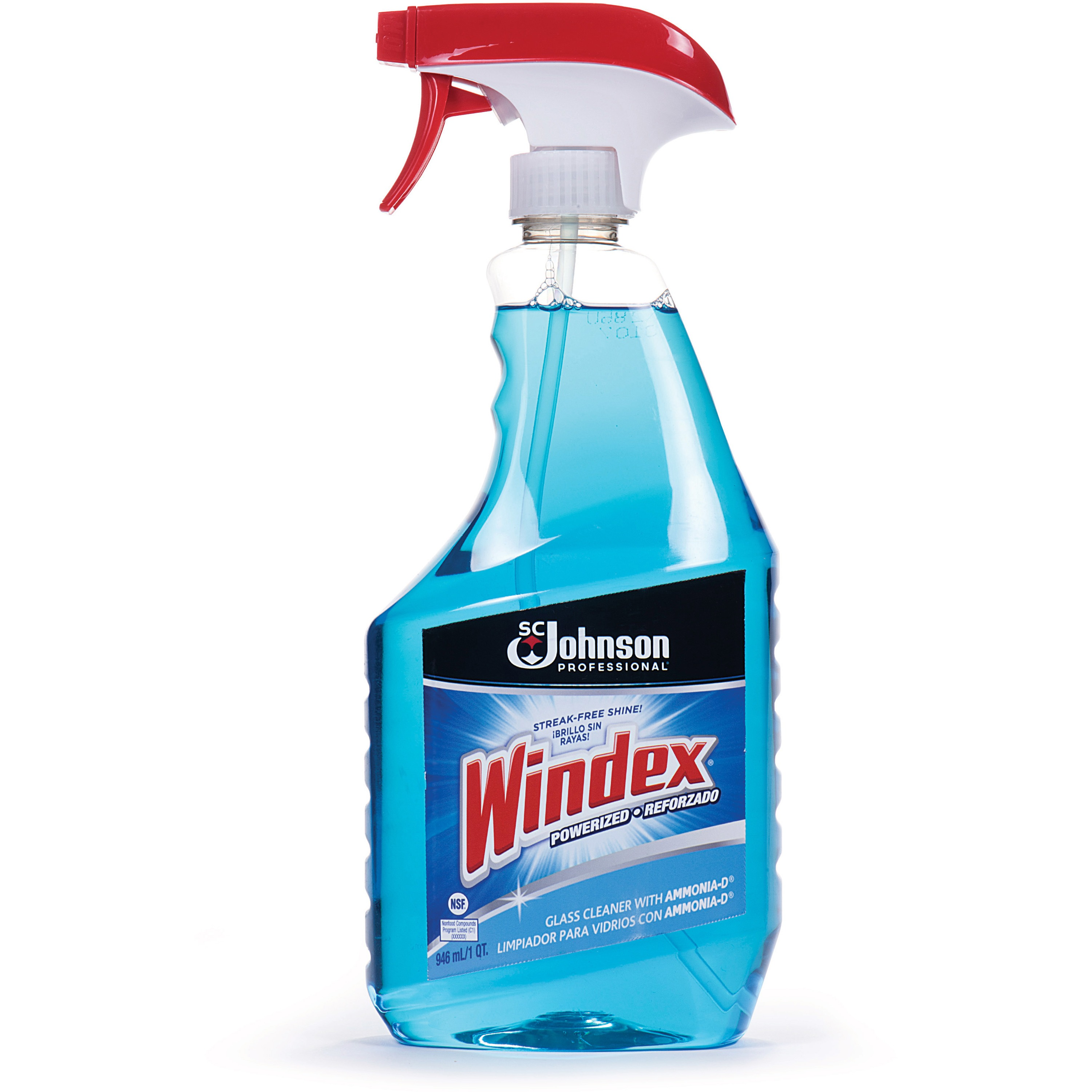 WINDEX 90135 Glass Cleaner, 32 oz, Blue, PK12