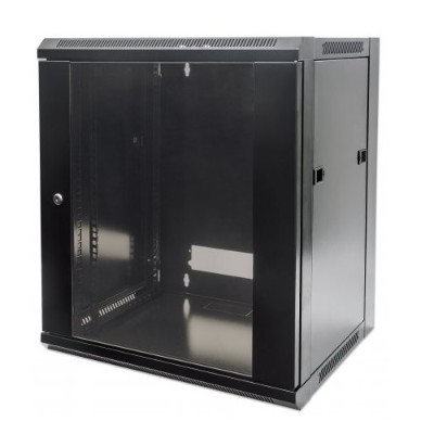 Intellinet Network Solutions 711869 19 12u 635 (h) X 570 (w) X 450 (d) Mm Flatpack Wallmount Cabinet - Black