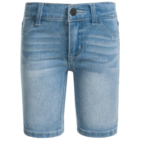 Stretch Denim Bermuda Shorts (for Little Girls)