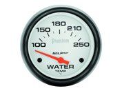 "Auto Meter Phantom Electric Water Temperature Gauge Features: Red Pointer For Quick Glance Monitoring    Safeguard Against Dangerous Conditions    Precision Movement And Extreme Accuracy    1 Year Limited Warranty Height: 4.00"" Width: 4.00"" Length: 4.00"" Weight: 1.00 lbs"