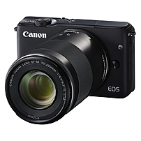 "Canon Eos M10 18 Megapixel Mirrorless Camera With Lens - 15 Mm - 45 Mm (lens 1), 55 Mm - 200 Mm (lens 2) - Black - 3"" Touchscreen Lcd - 16:9 - 3x/3.6x Optical Zoom - Optical (is) - E-ttl Ii - 5184 X 3456 Image - 1920 X 1080 Video - Hdmi - Pictbridge - Hd 0584c031"