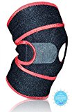 Best Knee Brace with Patella Stabilizer, Perfect Support for Sport, Running, Meniscus Tear, Tendonitis, Arthritis, ACL, MCL, One Size Adjustable Non-Slip Neoprene Relives Knee Pain Injury! by Mend-Me