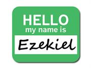 Ezekiel Hello My Name Is Mousepad Mouse Pad
