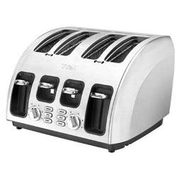 T-fal TF5600002 Avante Icon Cooking Core 1800-Watt Full Brushed Stainless Steel 4-Slice High Speed Toaster, Silver