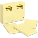 Original Canary Yellow Post-It Plain Note Pads