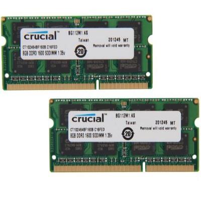 Crucial Ct2kit102464bf160b 16gb Kit (2 X 8gb) Ddr3l-1600 Sodimm