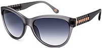 The Michael Kors 2885S 014 Olivia Cats Eyes Sunglasses features a fancy dark grey gradient lenses with a fashionable crystal smoke grey frame