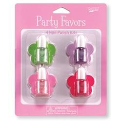 Club Pack of 24 Glossy Metallic Nail Polish Kit Party Favors