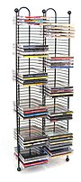 Atlantic Nestable 6370-5079 100 X Cd Media Storage Rack - Gunmetal