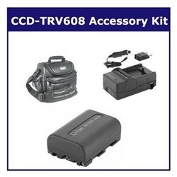 Sony CCD-TRV608 Camcorder Accessory Kit includes: SDNPFM50 Battery, SDM-101 Charger, VID90C Case