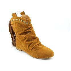Rebels Saldana Womens Tan Suede Fashion Ankle Boots