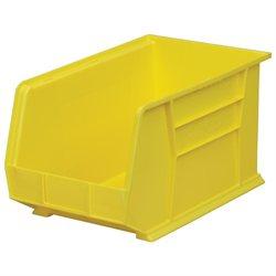 Akromils Home Indoor Mutlipurpose Plastic Stack Storage Hang Bin Yellow 6 Pack 18X 11X10