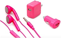 Aduro Ip3-3p-bnd03 Mobile Charging Bundle - 3 Piece - Pink - 2.1amp