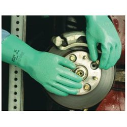 Ansell Sol-Knit Tm Green Nitrile Glove - Size 8 Green - 217801
