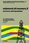 Written by foremost experts in the field, and formulated with attention to classroom use for advanced studies in reservoir characterization and processes, this book reviews and summarises state-of-the-art progress in the field of enhanced oil recovery (EOR)