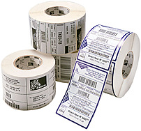 A premium smooth direct thermal paper label stock for high contrast black, visible light images when printed on Zebra thermal printers