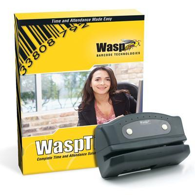 Wasp 633808550004 Time Standard Barcode Solution - Box Pack - 1 Administrator  50 Employees - Cd - Win - With 50 Barcode Badges / Barcode Employee Time Clock /
