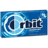 Orbit Orbit Gum, Individually Wrapped, 12/BX, Peppermint (21486)