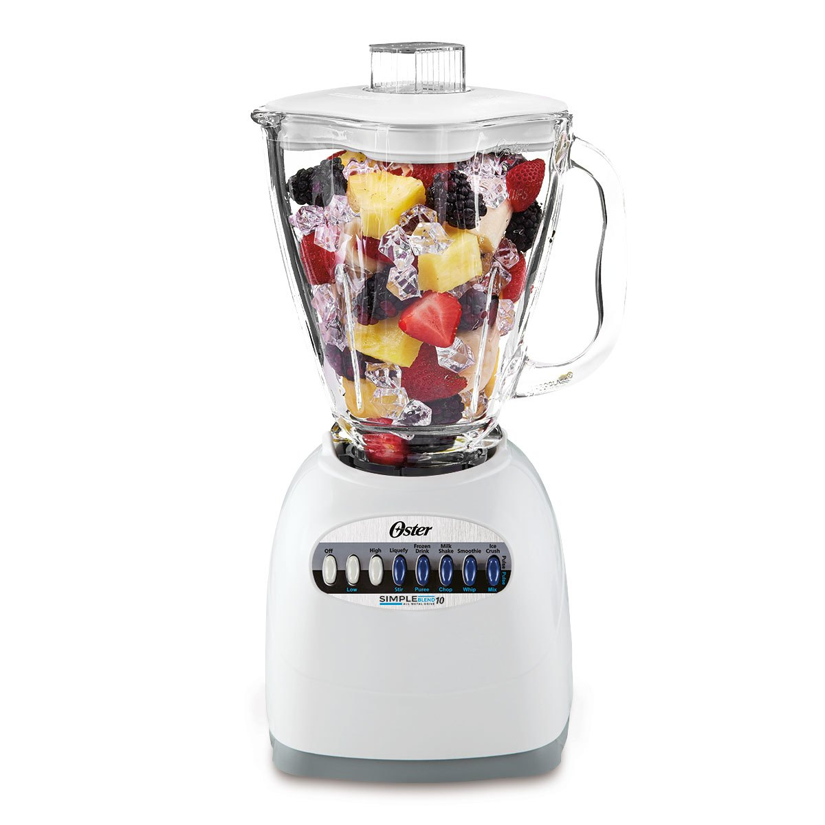 Oster Classic Series Simple Blender - White - Glass Jar - NEW UPDATED LOOK! 006647-000-N01