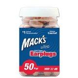 Mack's Ear Care Ultra Soft Foam Earplugs, 50 Pair