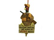 Pheasant Hunters Are Always In A Fowl Mood Hunting Christmas Ornament