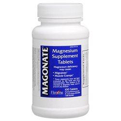 Magonate Magnesium Supplement Tablets - 100 Ea