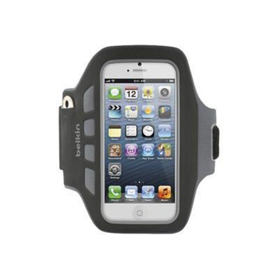 Belkin F8w106ttc00 Easefit Plus Armband - Arm Pack For Cell Phone - Blacktop - For Apple Iphone 5