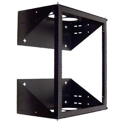 Belkin F4d148 Wall Mount Swing-away Relay Rack - Black