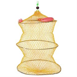 20 Height 2 Sections Dual Circle Collapsible Design Fishing Keep Net