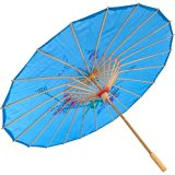 Japanese Chinese Umbrella Parasol 22in L-Blue 157-12