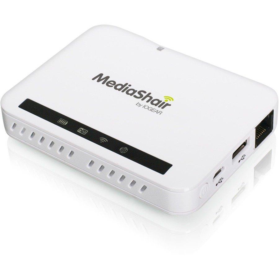 IOGEAR MediaShair 2 Wireless Media Hub and Power Station - Wi-Fi - 7 x Storage Device