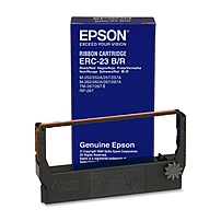 Epson Color Ribbon Cartridge - Black, Red - Dot Matrix - 1 Each - Retail Erc-23br