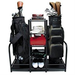 Golf Organizer Two Bags Four Shelves Steel Quality NEW